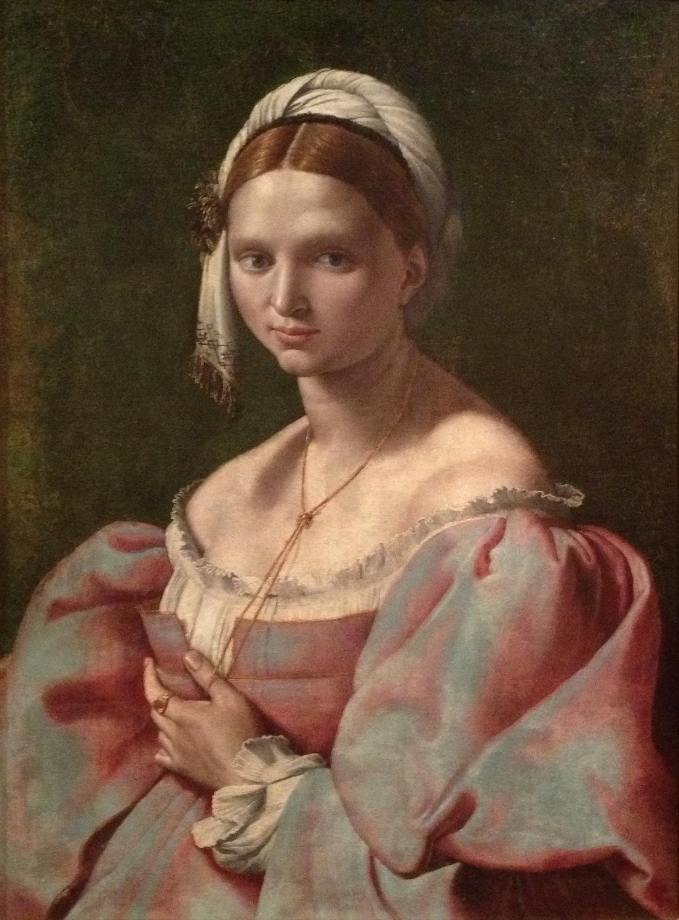 Ritratto_femminile_di_Giuliano_Bugiardini_con_giovane_donna_dal_caro_laccio,_dolce_nodo